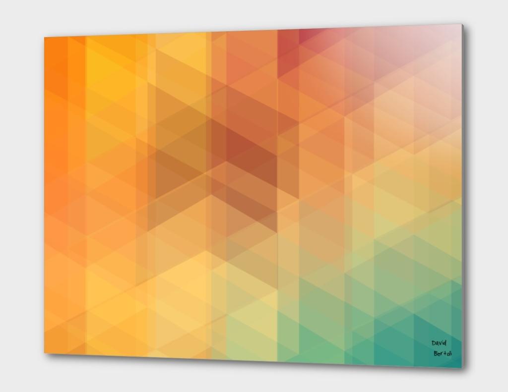 Geometric 02 - Blue Orange Polygon