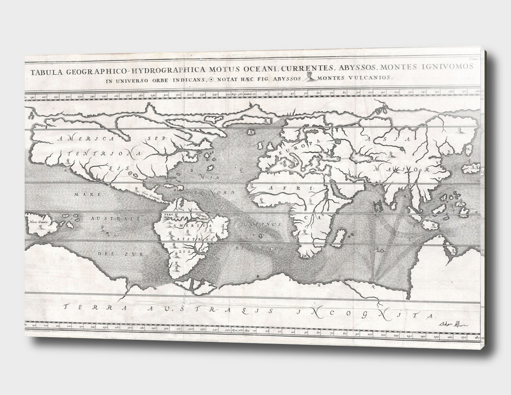 Vintage Map of The World (1665) 2