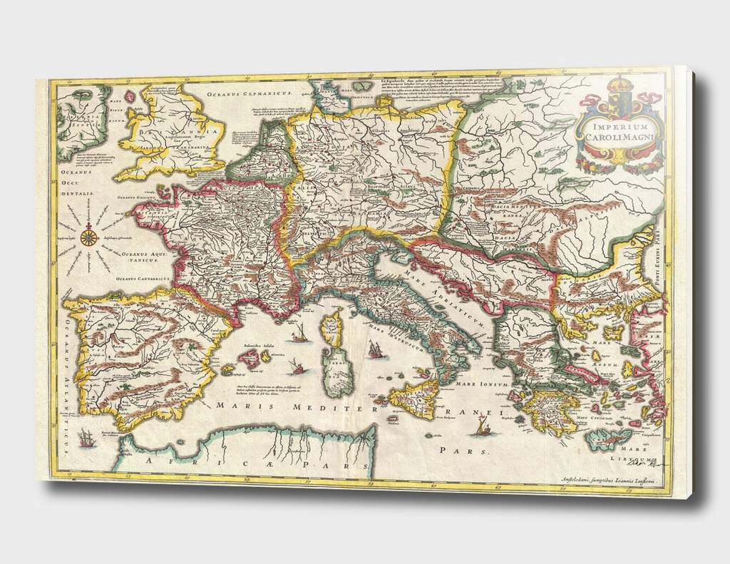 Vintage Map of Europe (1657)