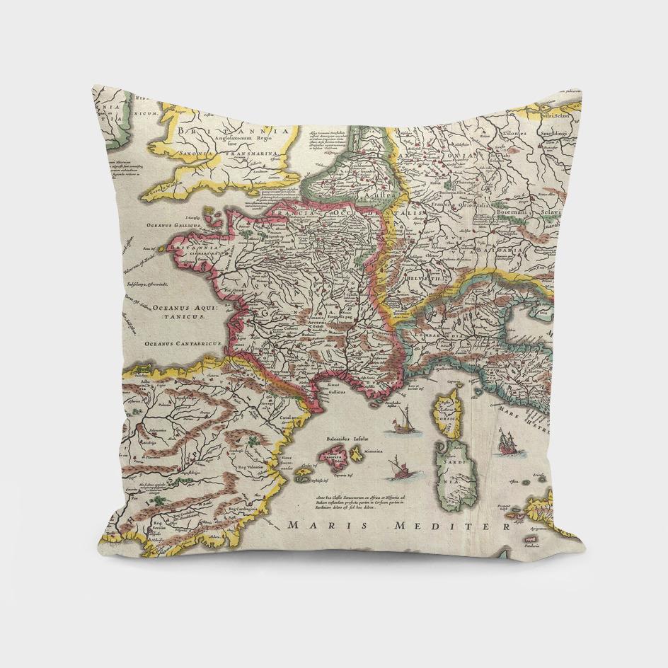 Vintage Map of Europe (1657)