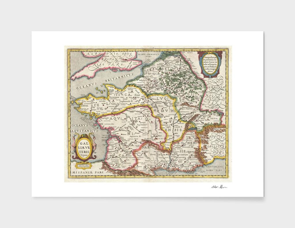 Vintage Map of France (1657) 2