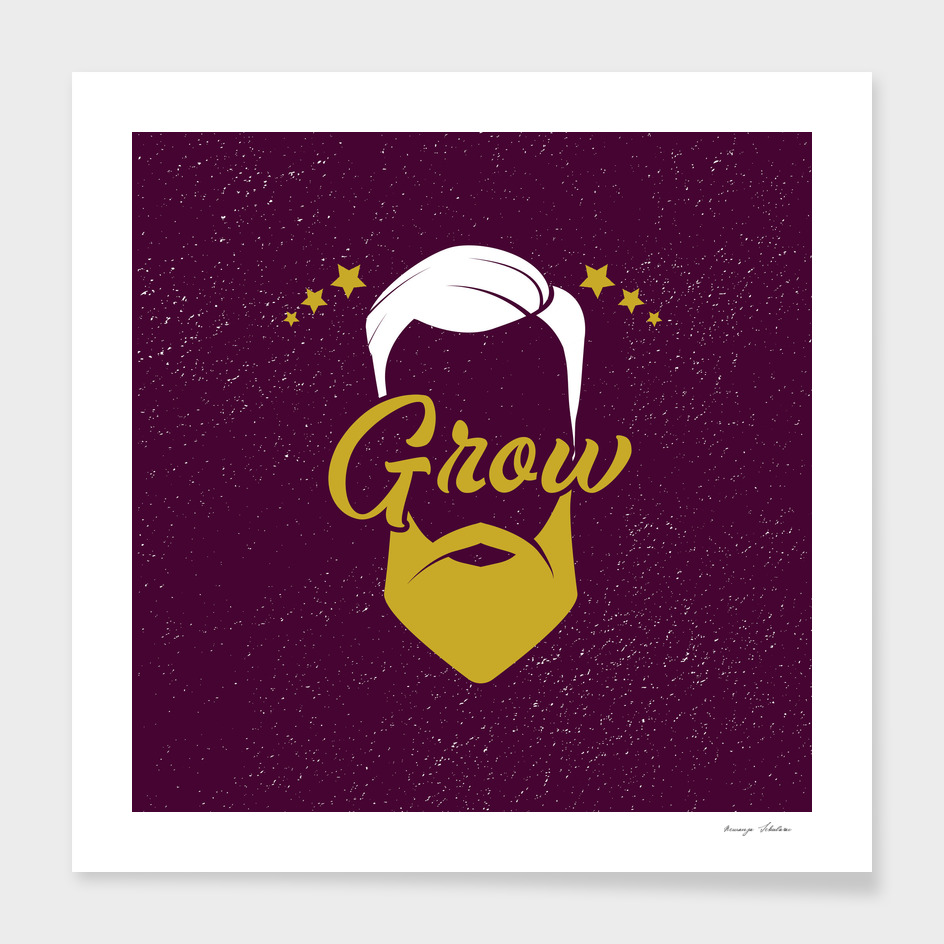 Grow barber logo.