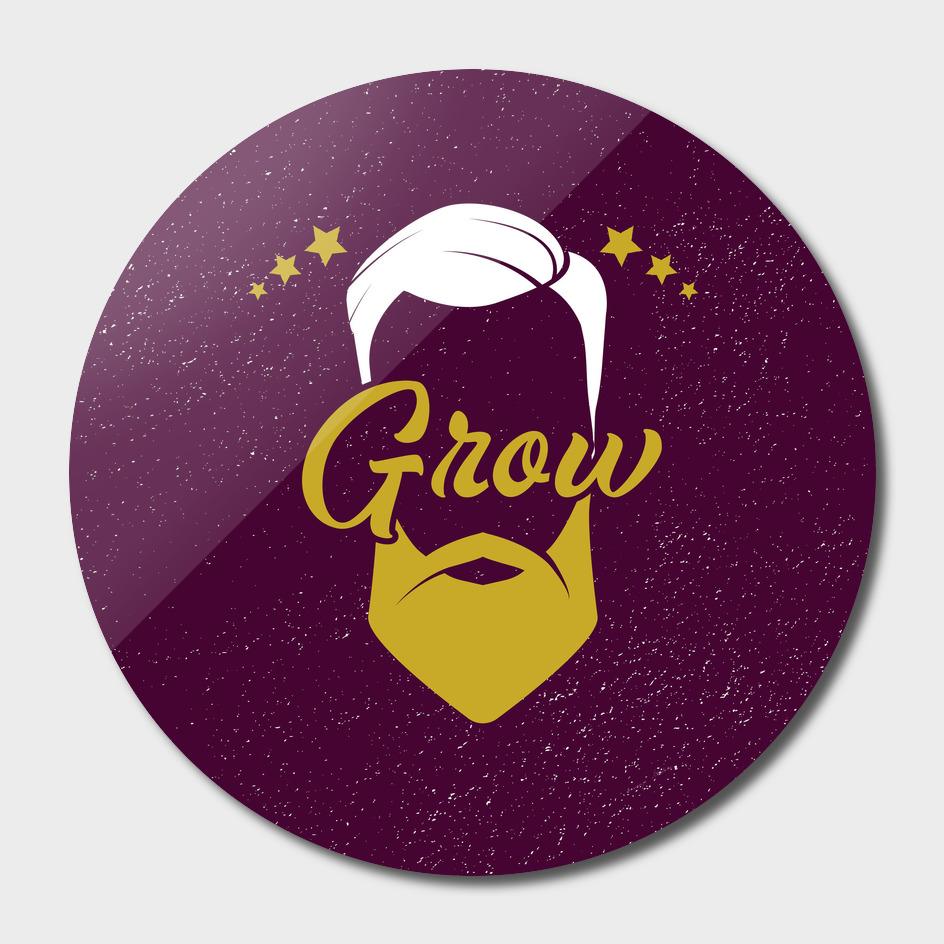 Grow barber logo.