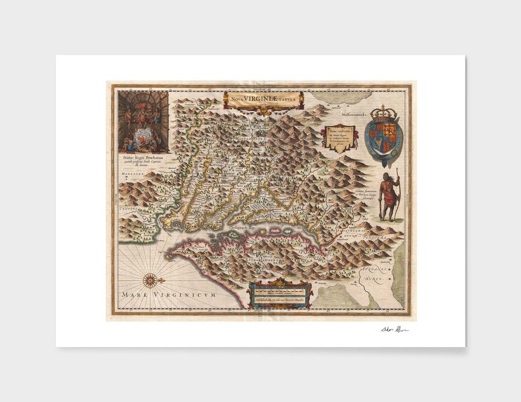 Vintage Map of Virginia (1630)