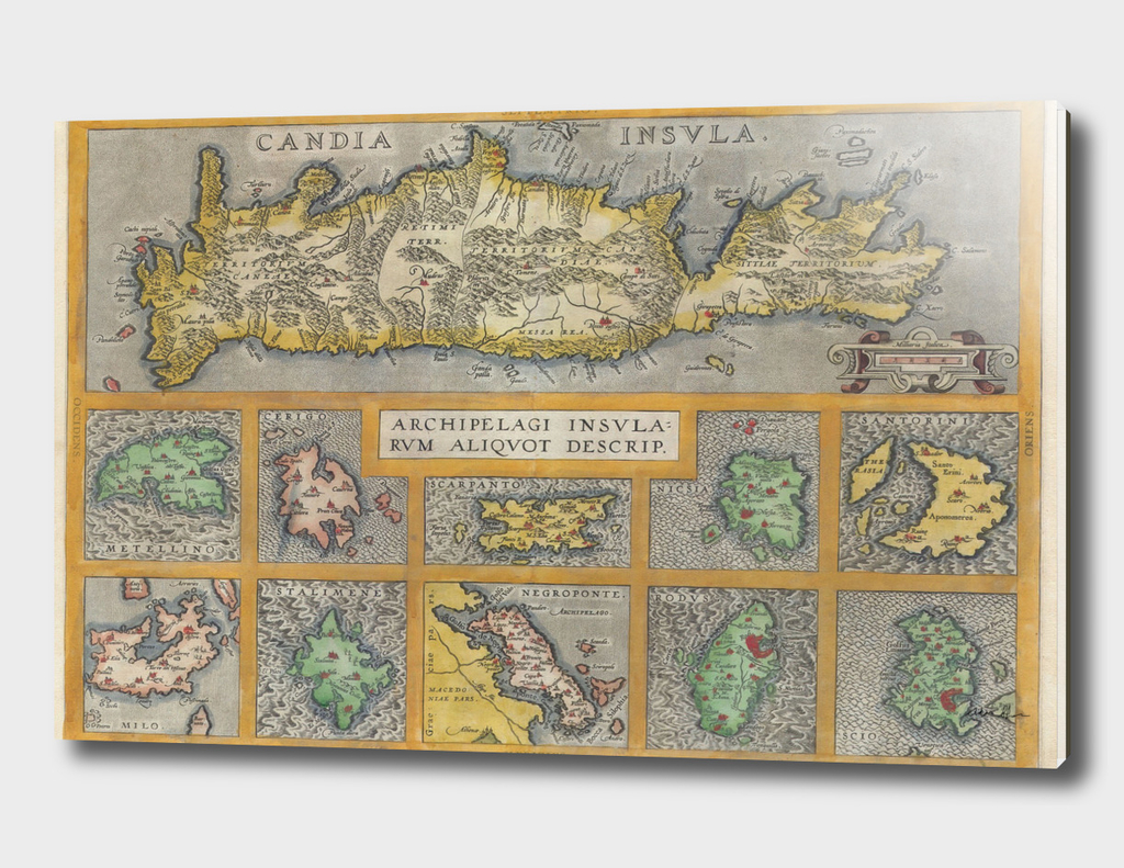 Vintage Map of The Islands of Greece (1584)