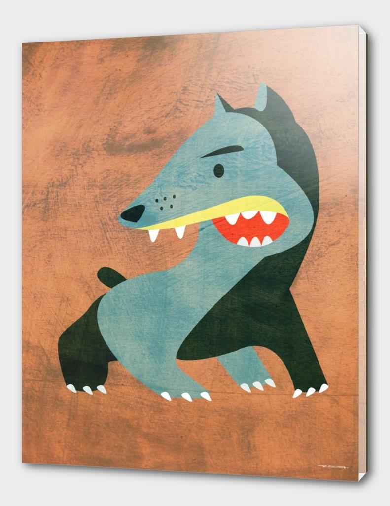 Angry dog illustration
