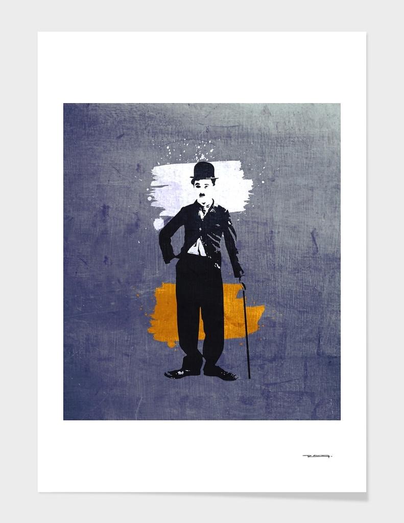 Charlie Chaplin digital illustration