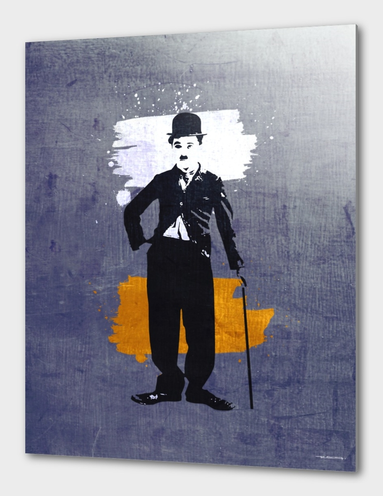 Charlie Chaplin digital illustration