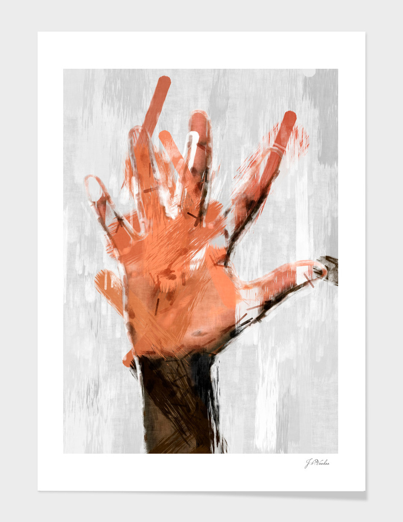 Hand abstract sketch