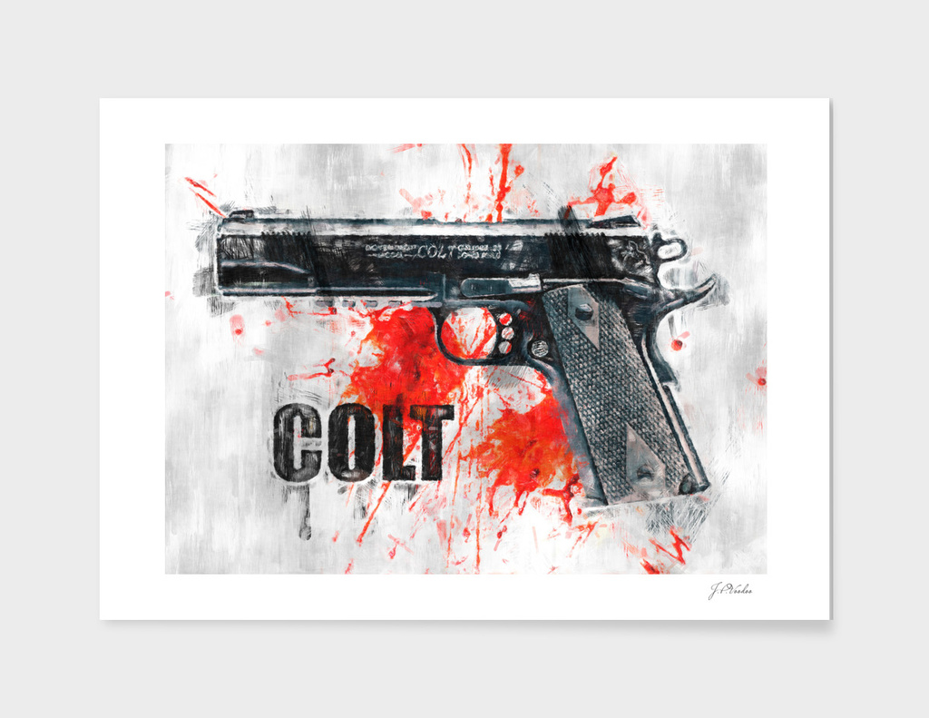 Colt gun sketch