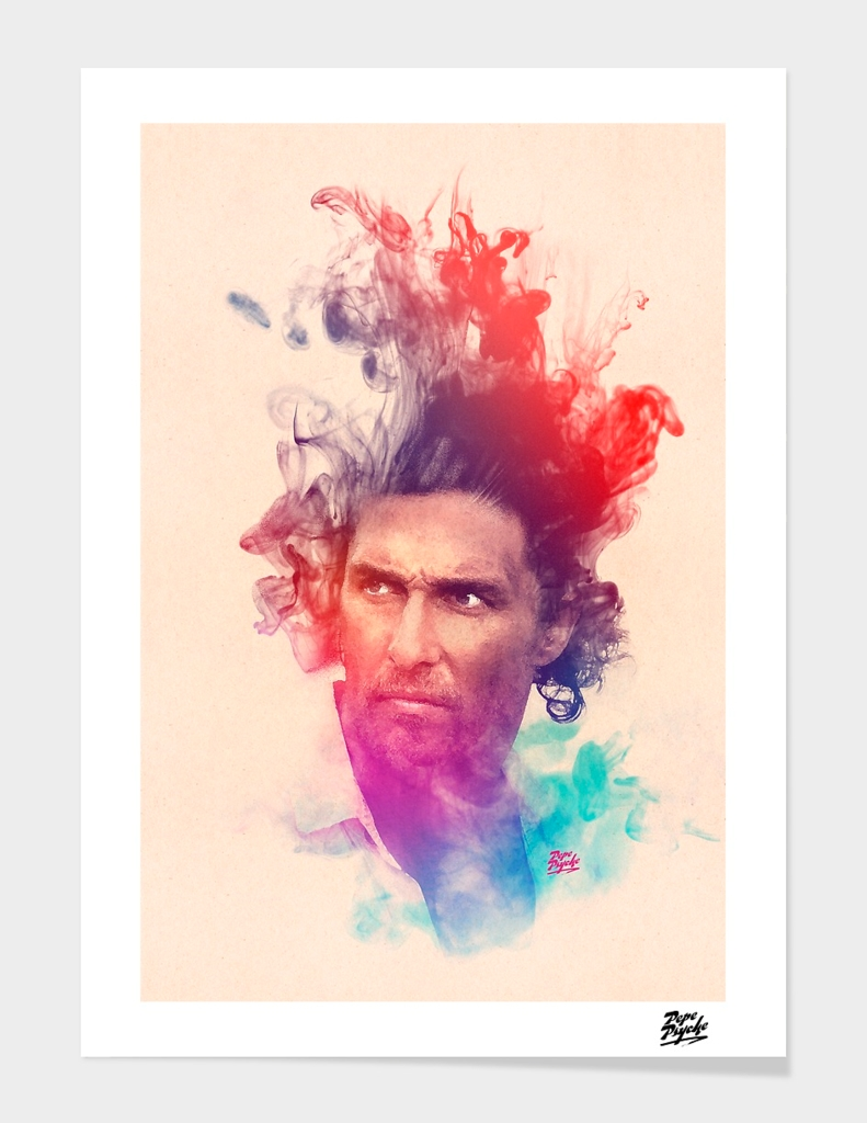 Matthew McConaughey Watercolor Portrait