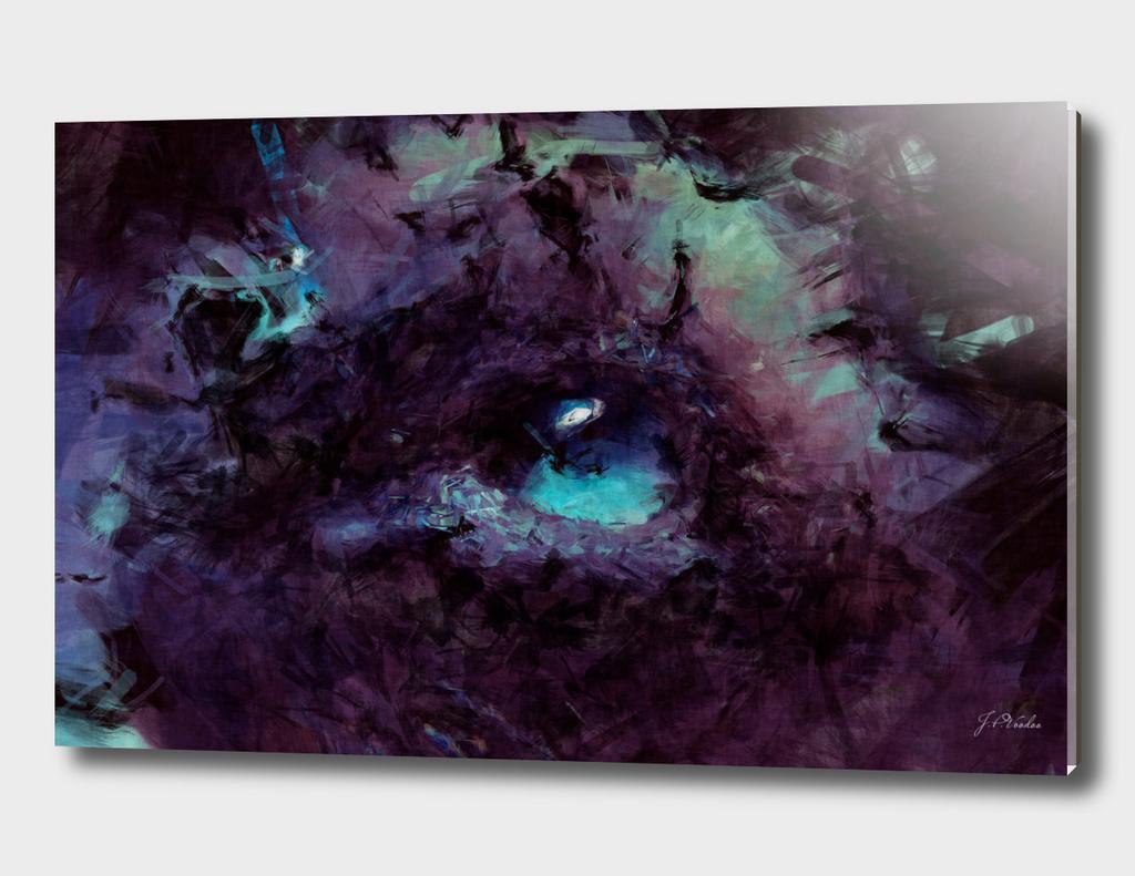 Blue eyed cat sketch