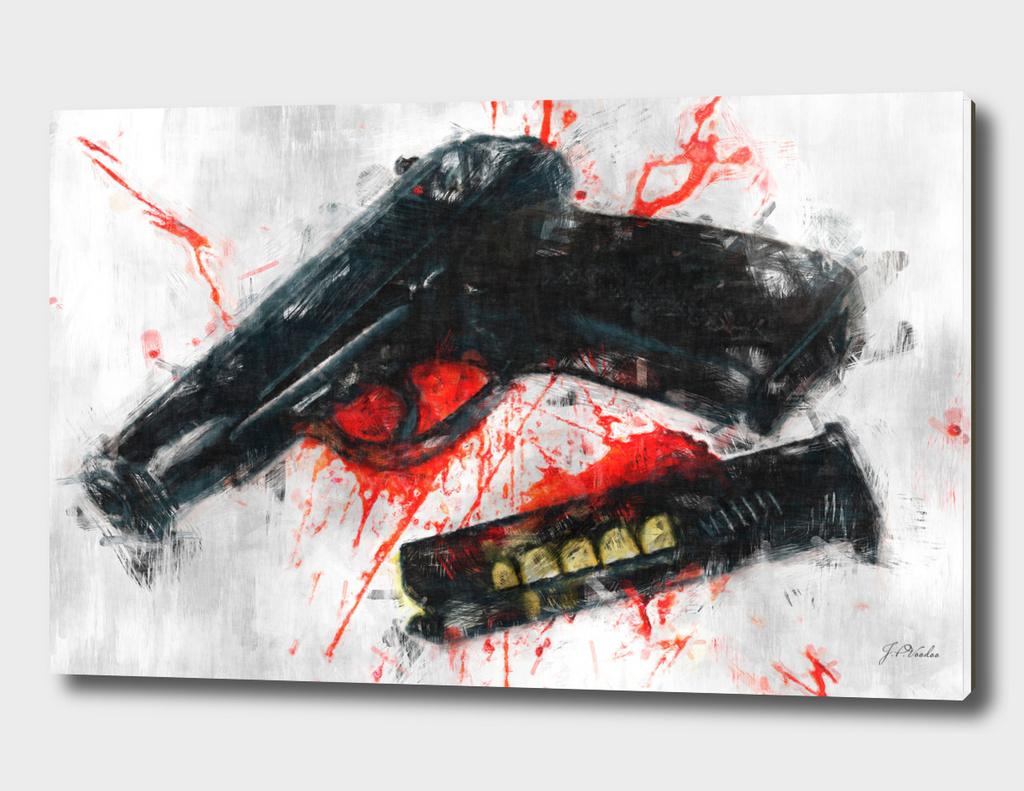 Makarov gun sketch