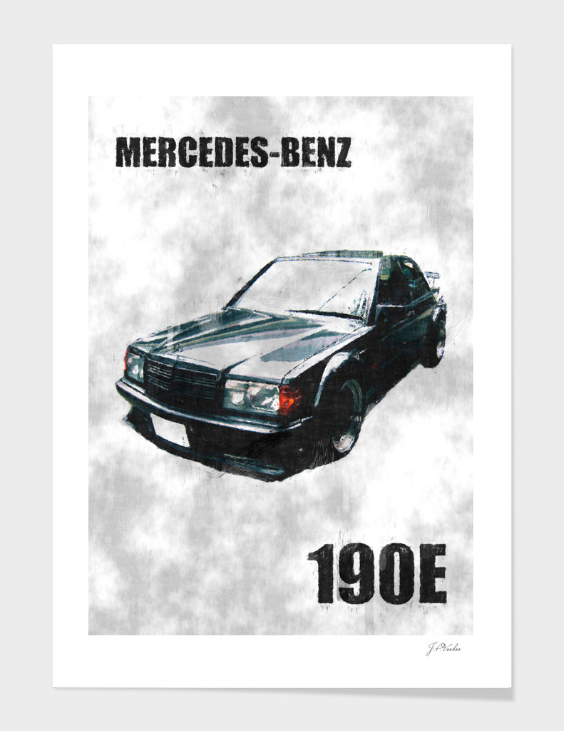 Mercedes-Benz 190E sketch