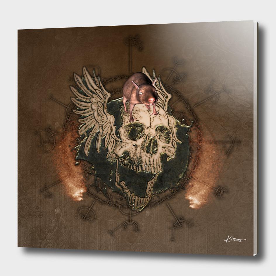 Awesome creepy skull