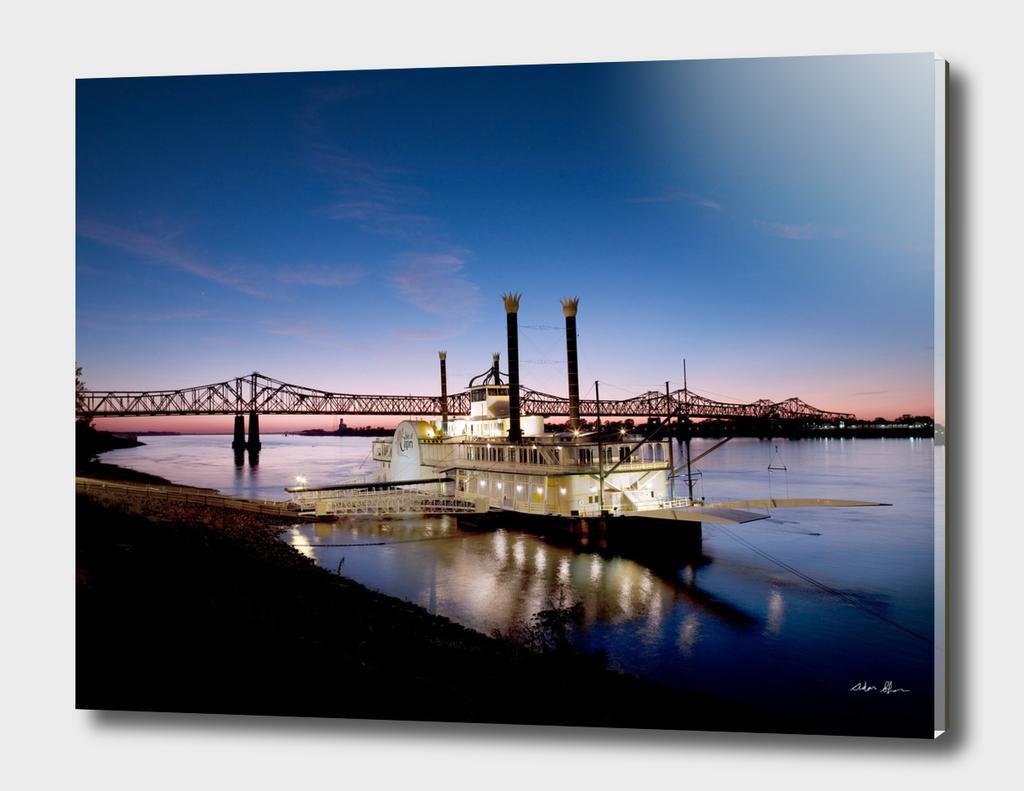 Casino Riverboat at Dusk Photograph