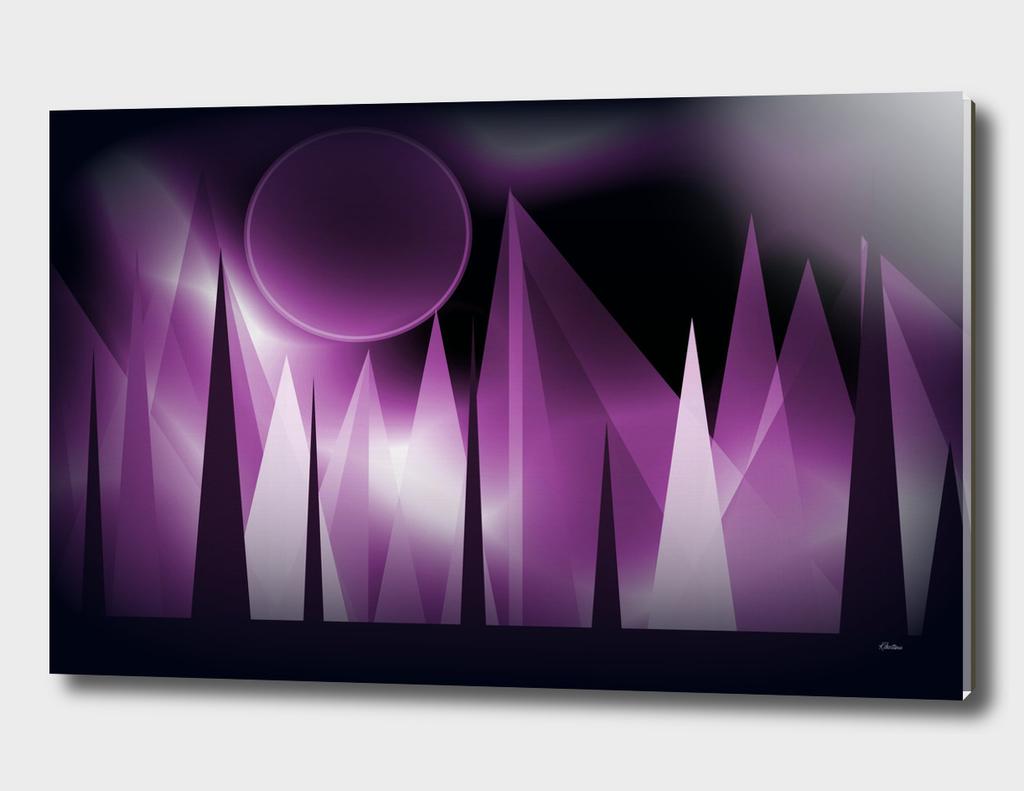 Purple Peaks Landscape