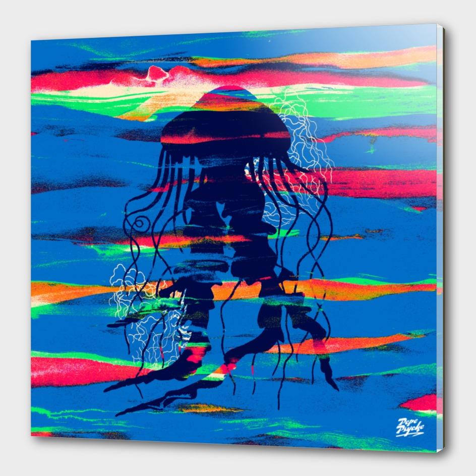 Blue Paintbrush Jellyfish