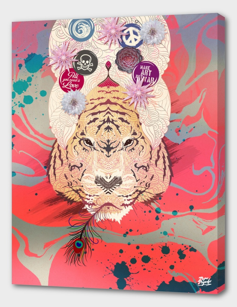 Psychedelic Mandala Tiger