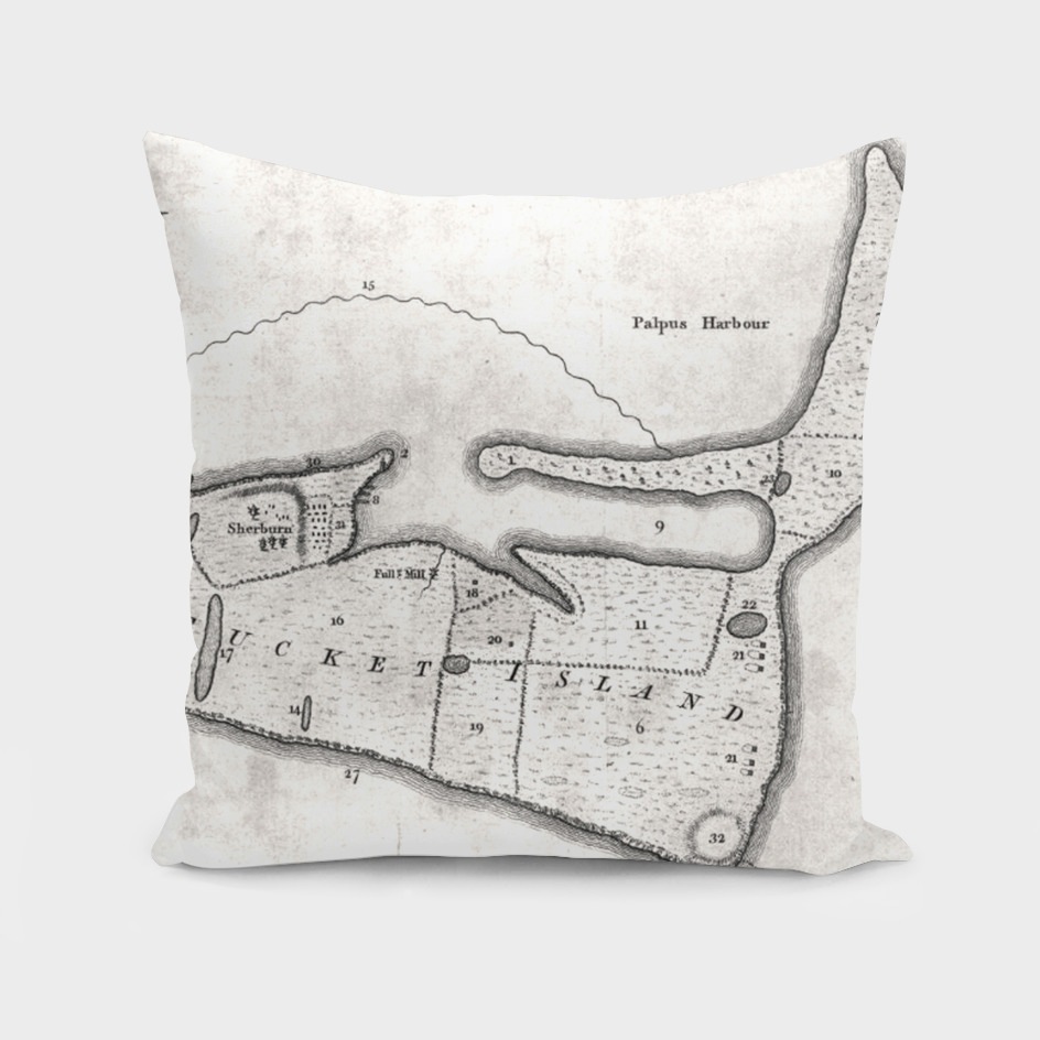 Vintage Map of Nantucket MA (1782)