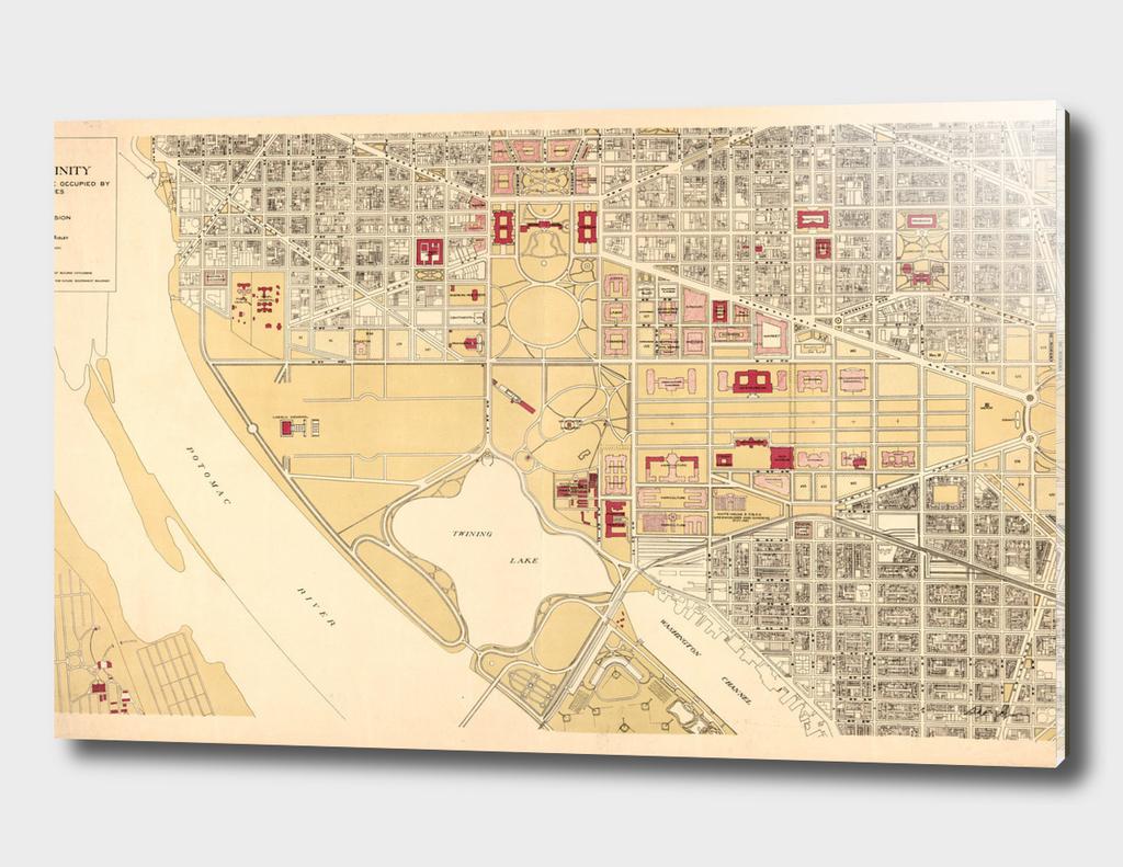 Vintage Map of Washington DC (1917)