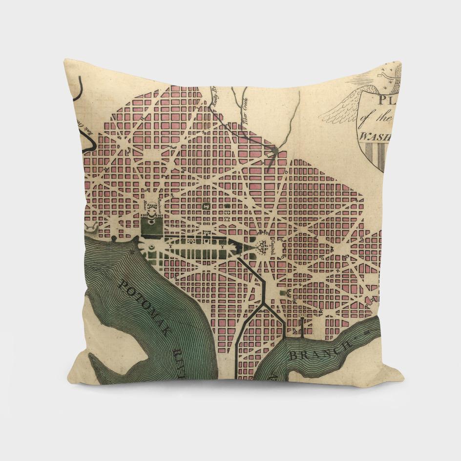 Vintage Map of Washington DC (1793)